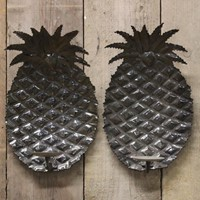 1970s Spanish Pineapple wall Lights in Steel