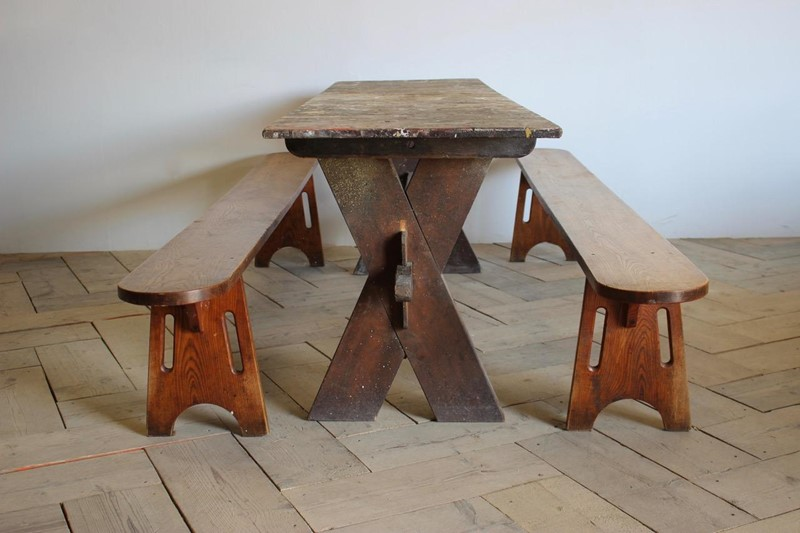 Pair of 19th cent French Benches in Ash-brownrigg-pair-of-19th-cent-french-benches-in-ash-47-e1-main-636906696896362195.jpeg