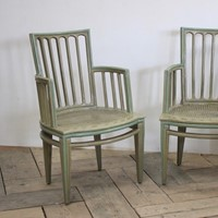 Pair of 19th cent Italian Neoclassical Chairs