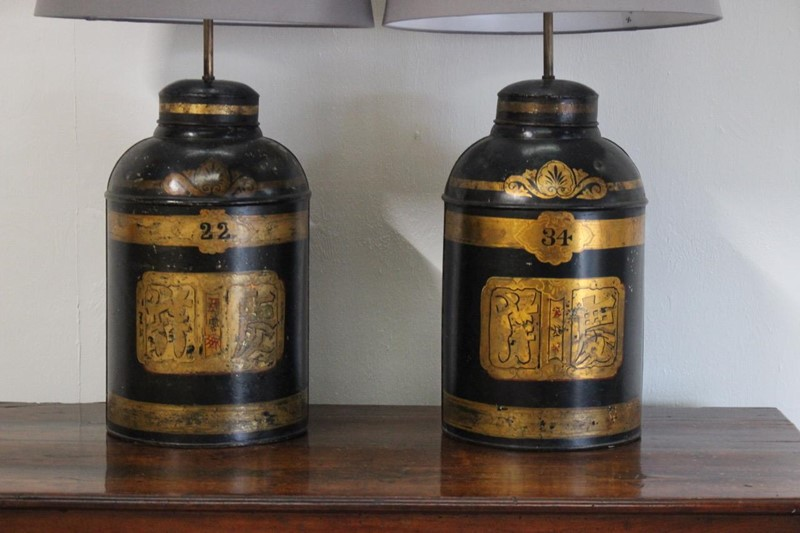 19th century Tole Chinoiserie Tea Canister Lamps-brownrigg-pair-of-19th-century-tole-chinoiserie-tea-canisters-as-lamps-2019-e1-main-637101145391134060.jpeg