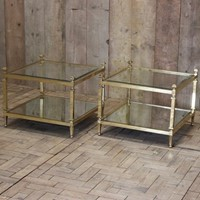 1970s Occasional Two Tier Brass Tables