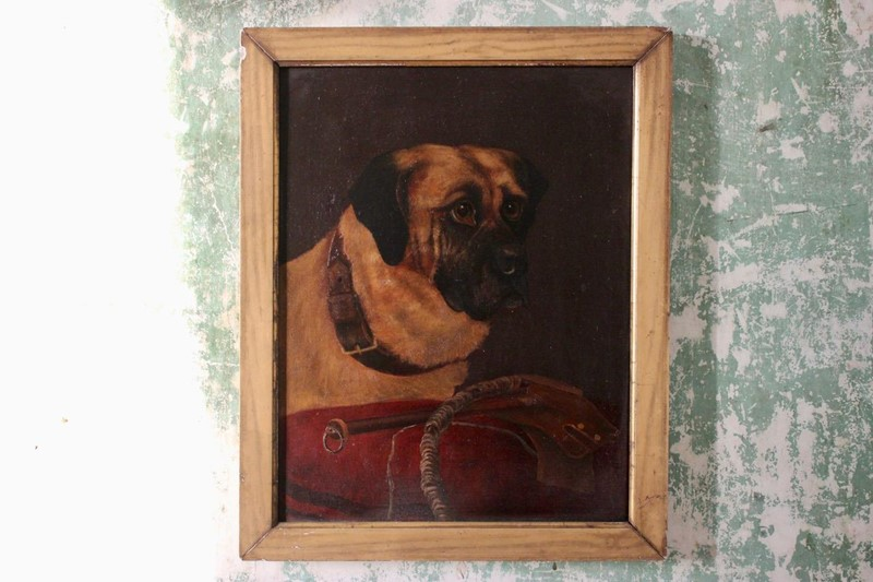 19th Cent Oil on Canvas of a Dog-brownrigg-product1-18feb-1555-2-main-636887656853029463.jpeg