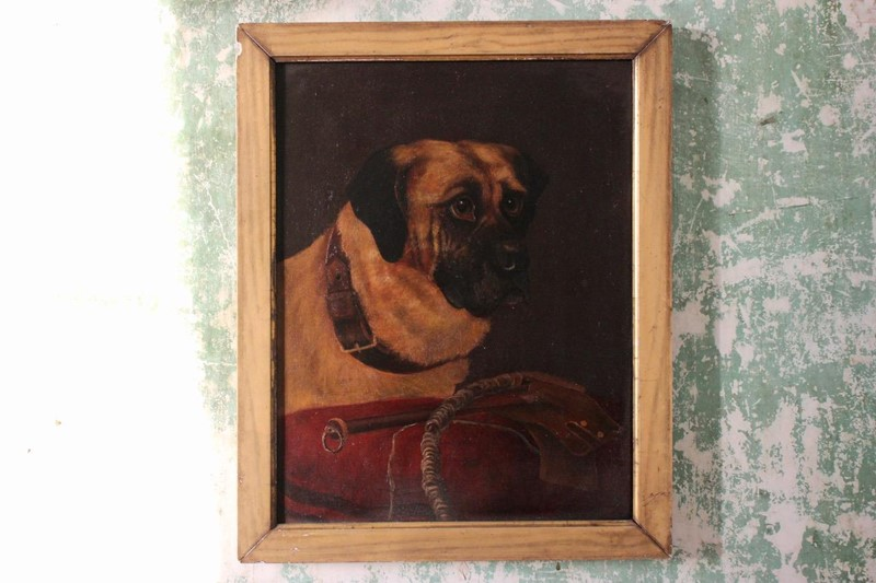 19th Cent Oil on Canvas of a Dog-brownrigg-product1-18feb-1555-4-1-main-636887656868029078.jpeg