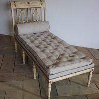 A circa 1900 French painted daybed
