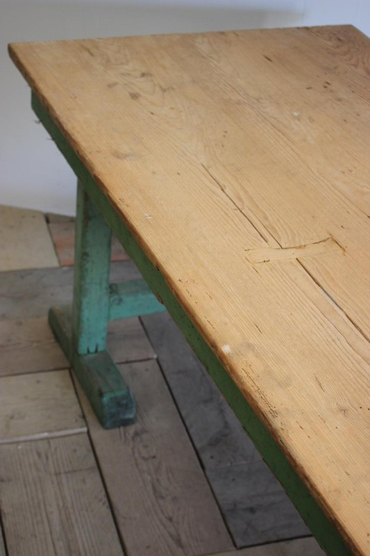1940s Pine Dining Table in original paint-brownrigg-product4-13july-4715-E4-main-636670944190547778.jpeg