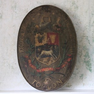 Antique Venezuelan Consulat Sign