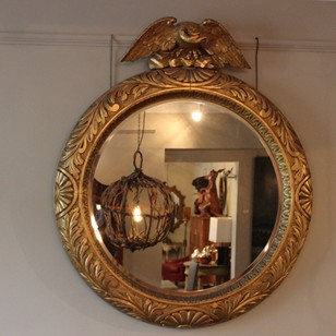 Early 20th Century Giltwood Mirror by George Truby