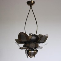 Stylish 1970s Chandelier in the shape of a Flower