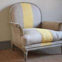 19th Cent Painted French Armchair
