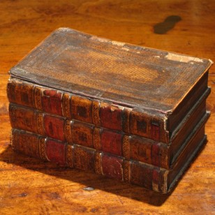 Late 18th/ Early 19th Cent Faux Books Tea Caddy