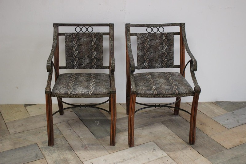 Pair of 1950s French Armchairs in Faux Snakeskin-brownrigg-unusual-pair-of-1950s-french-armchairs-in-faux-snakeskin-16-E2-main-636606940157391707.jpeg
