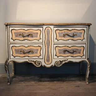 Italian Painted Commode with its original top