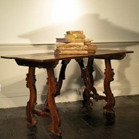 19th Century Spanish Walnut Occasional Table