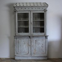 Wonderful & Large 19th C Painted Display Cabinet