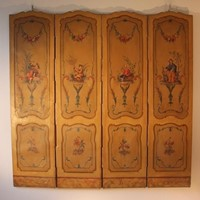 Louis XV Painted French Folding Screen