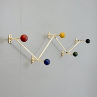 Multi-coloured coat hooks