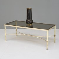 Mid Century Brass Coffee Table