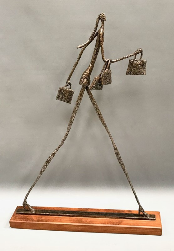 """The Happy Shopper""Hammered Steel Sculpture -callie-hollenden-21659-118ixxl-main-636789462934101541.jpg"