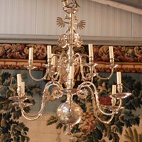 Very Rare Late19/Early20thC Silvered Chandelier