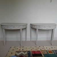 Pair George 111 Painted Console Tables
