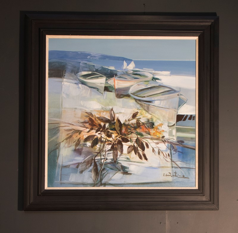 Boats on The Beach, by Fabio Costantino-callie-hollenden-painting1-main-636793714799356590.jpg