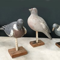Early 20thC Decoy Pigeons, three available