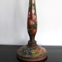 A single English Arts & Crafts decorated lamp