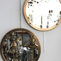 A set of 8 Italian antique brass mirrors