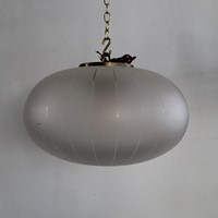 A set of 4 Italian frosted hanging lights