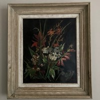 French 1940's Still Life painting signed Binet