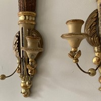Pair of Gustavian wall sconces c.1920's