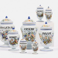 Set of 8 Rouen Faience Jars