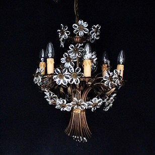 1940s flower basket chandilier