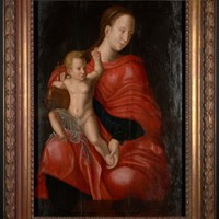 Late 17th C, Flemish School, Madonna and child