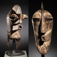 Male Red,White and Black Kifwebe Mask
