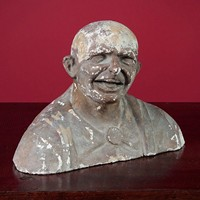 Plaster Bust of a Laughing Man c.1890.