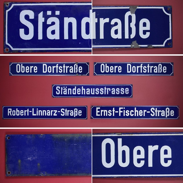 5 VINTAGE GERMAN ENAMELLED METAL STREET  PLAQUEs-collinge-antiques-IMG_2520(3)_main_636112731033750435.jpg