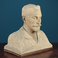 French Bust Of A Gentleman Dated 1911.