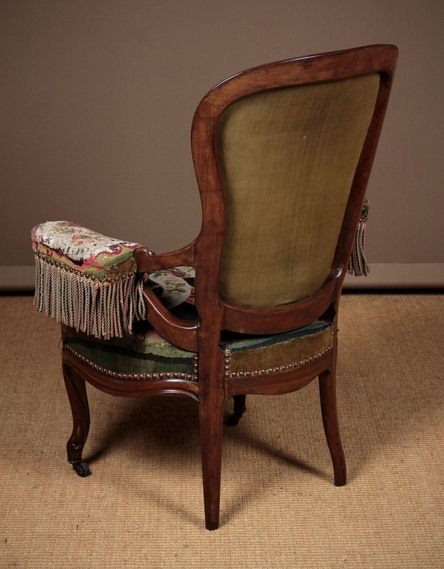 French Walnut Open Armchair with Original Covers.-collinge-antiques-img-0160-main-637280048743827530.jpg