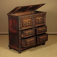 17th.c. Style Oak Chest Of Drawers c.1800.