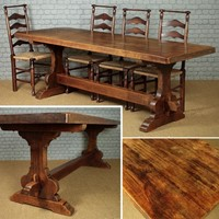 Large Oak Refectory Table c.1930.