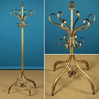 Gilt Metal Hat & Coat Stand c.1930.