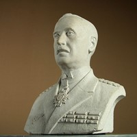 Carved Stone French Military Bust.