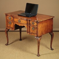 George II Style Walnut Desk Or Writing Table.