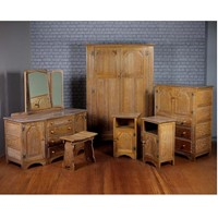 Limed Oak Bedroom Suite by Webber Furniture c.1930
