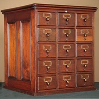 Desk Top Filing Cabinet Bank of Drawers.