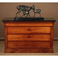 Cherry & Marble Top Commode