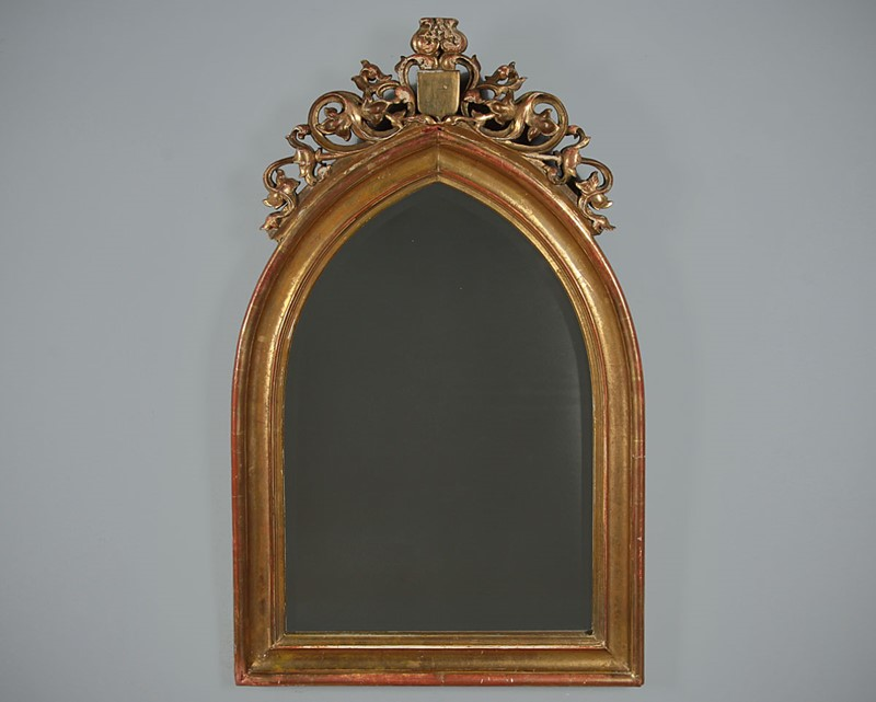 19th.c. Gothic Revival Gilt Frame Mirror c.1880.-collinge-antiques-img-5380-main-637334502746286515.jpg