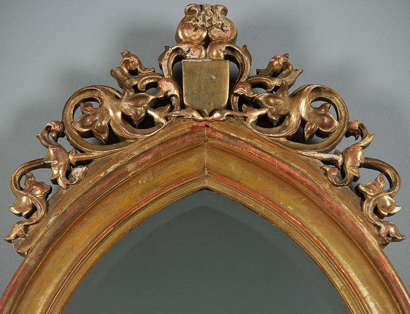 19th.c. Gothic Revival Gilt Frame Mirror c.1880.-collinge-antiques-img-5384-main-637334503050043470.jpg