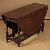 18th.c. Oak Gateleg or Drop Leaf Supper Table.
